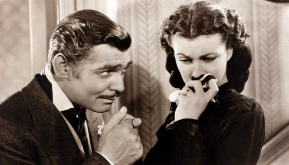Vivian Leigh e Clark Gable in Via col Vento.